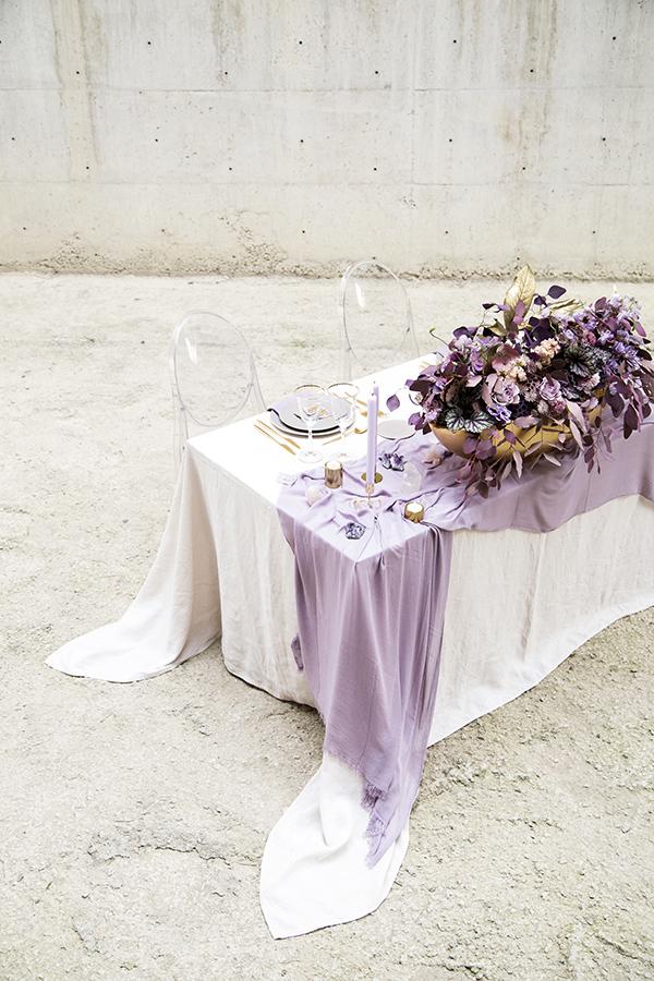 Lush Amethyst Wedding Styled Shoot