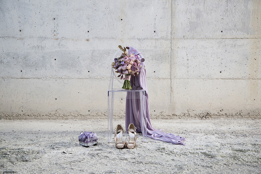TheExperialist Lush Amethyst Wedding Styled Shoot